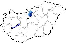 Budapest in Ungarn Karte