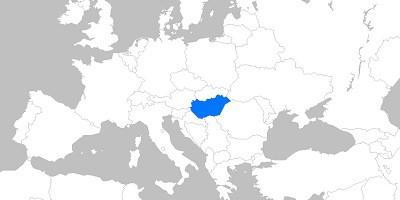 Landkarte Ungarn Europa
