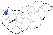 Bük in Ungarn Karte