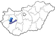 Keszthely am Balaton in Ungarn Karte