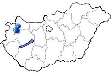 Sárvár in Ungarn Karte