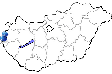 Szentgotthárd in Ungarn Karte