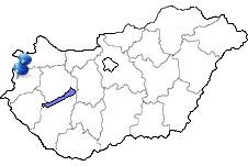 Szombathely in Ungarn Karte