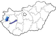 Zalaegerszeg in Ungarn Karte