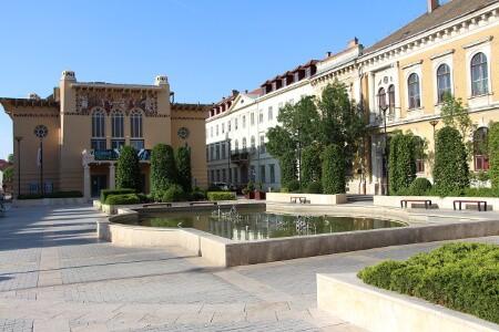 Sopron in Ungarn Strassenbild