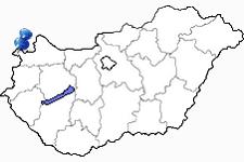 Sopron in Ungarn Karte